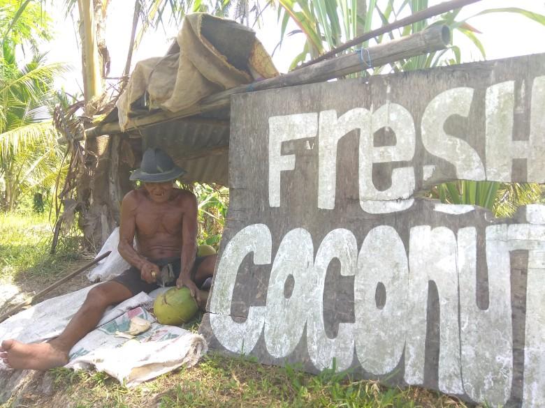 Coconut man, Sari Organik, Ubud